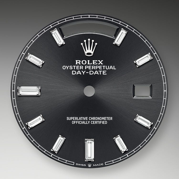 Rolex Day-Date 40 Bright black dial