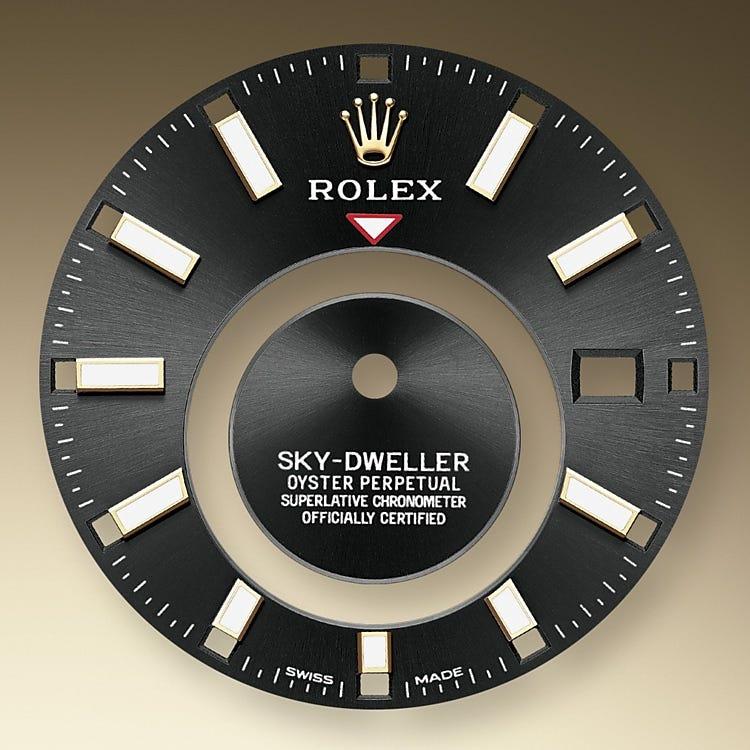 Rolex Sky-Dweller Bright black dial