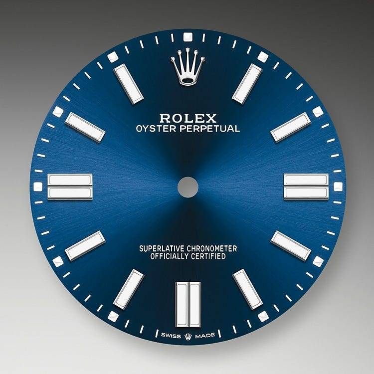 Rolex Oyster Perpetual 41 Bright blue dial