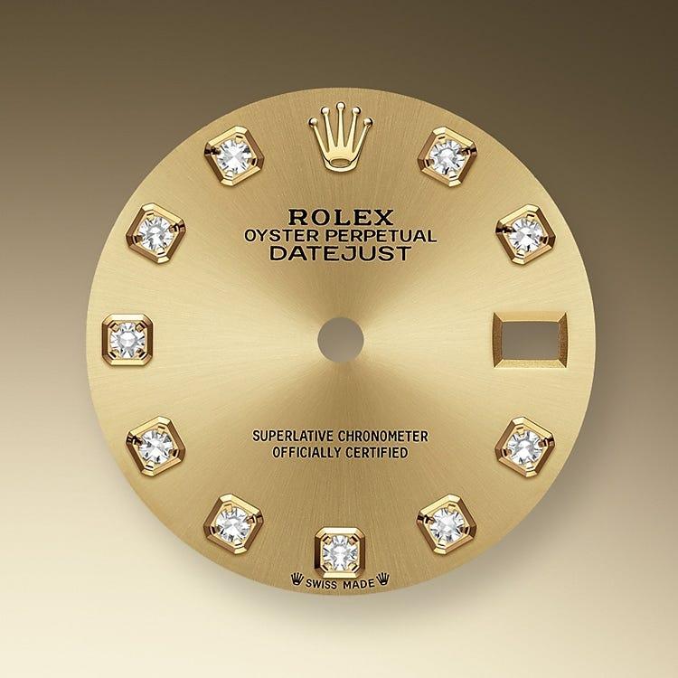 Rolex Lady-Datejust Champagne-colour dial