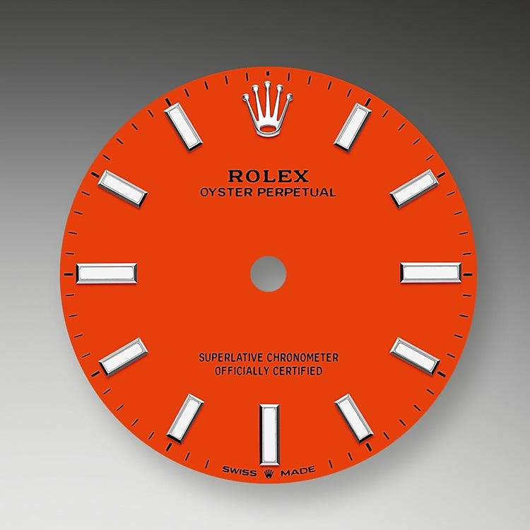 Rolex Oyster Perpetual 31 Coral red dial