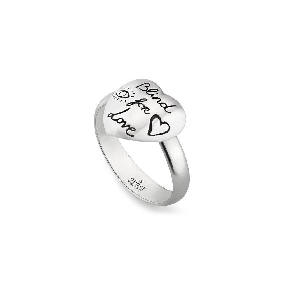 Gucci Blind For Love Heart Ring Gearys