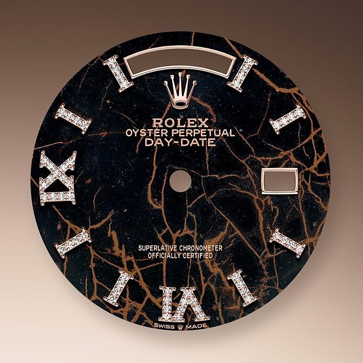 Rolex Day-Date 36 Eisenkiesel dial