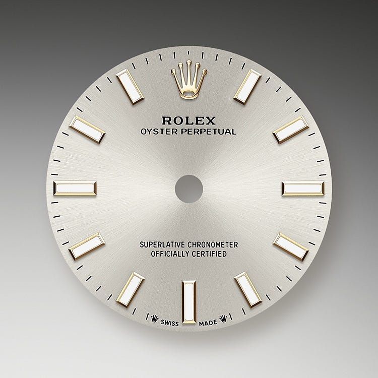 Rolex Oyster Perpetual 28 Silver dial
