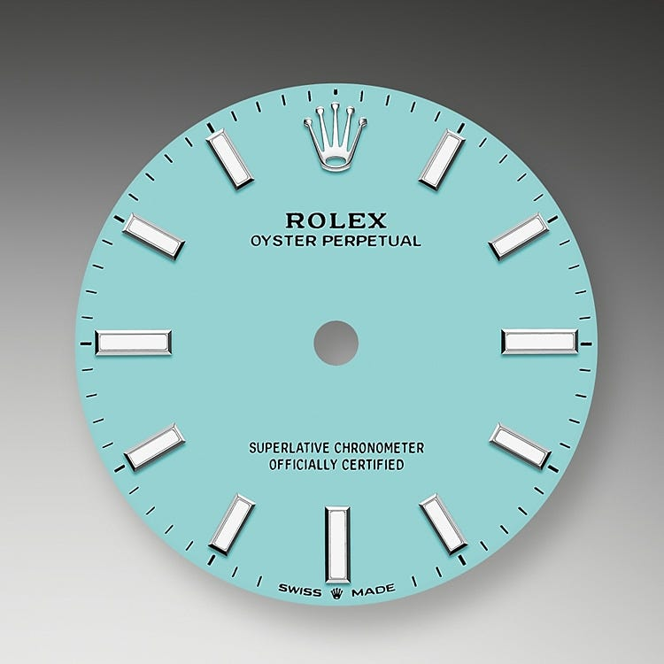 Rolex Oyster Perpetual 31 Turquoise blue dial