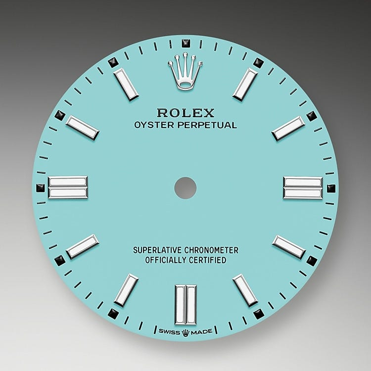 Rolex Oyster Perpetual 36 Turquoise blue dial