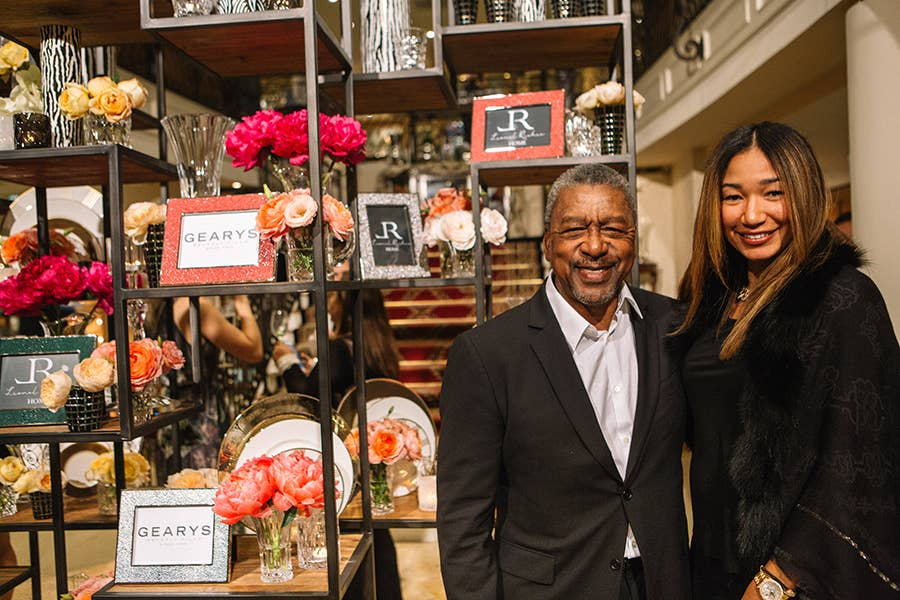 BET Founder Bob Johnson with his wife Lauren