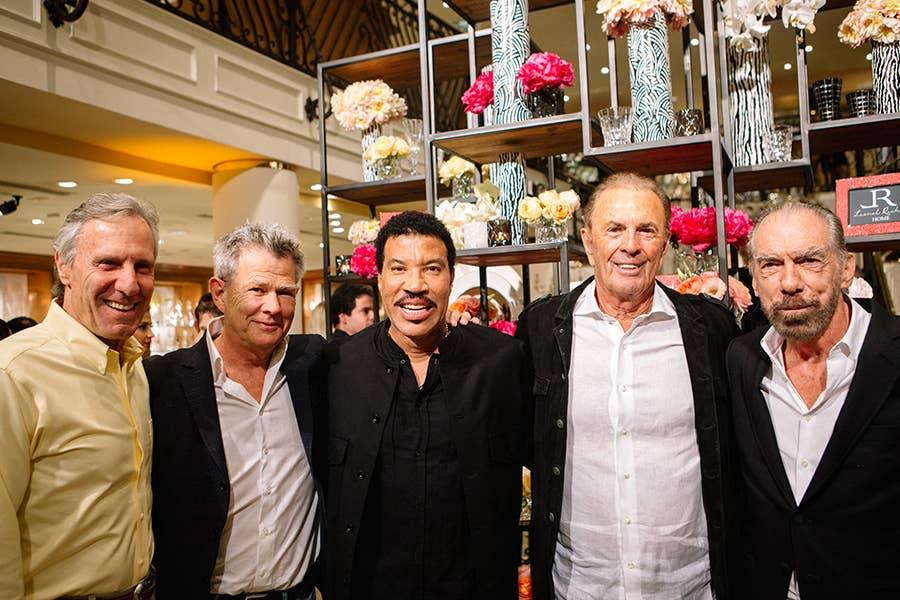 Bruce Meyer, David Foster, Lionel Richie, Dennis Washington & John Paul DeJoria