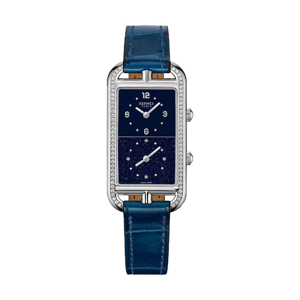 Hermès Nantucket Dual Time watch, 22 x 32.5 mm