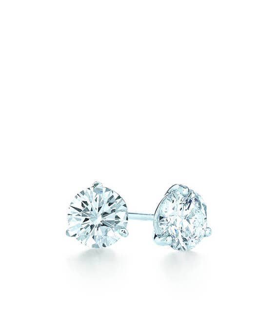 Kwiat Round Diamond Stud Earrings