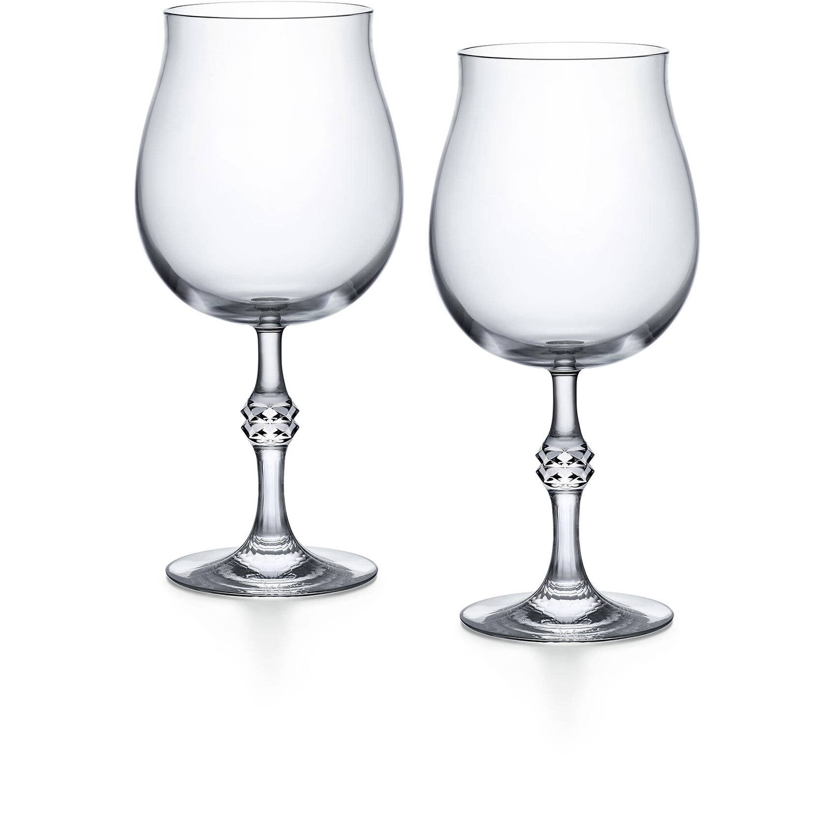JCB Passion Wine, set of two, with detailed cuts on the stem