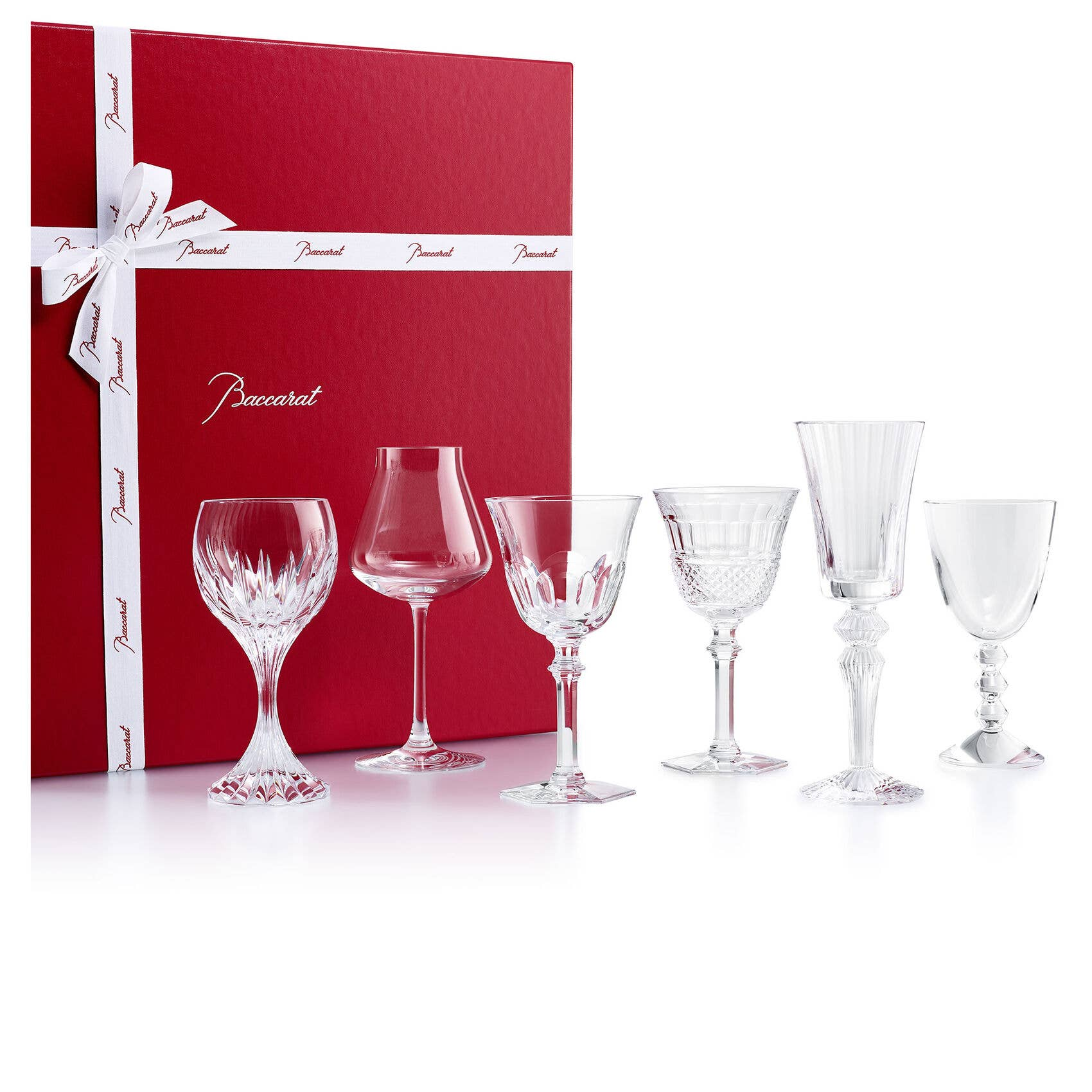 Wine Therapy set with Harcourt Eve, Diamant Eve, Château Baccarat, Massena, Vega and Mille Nuits