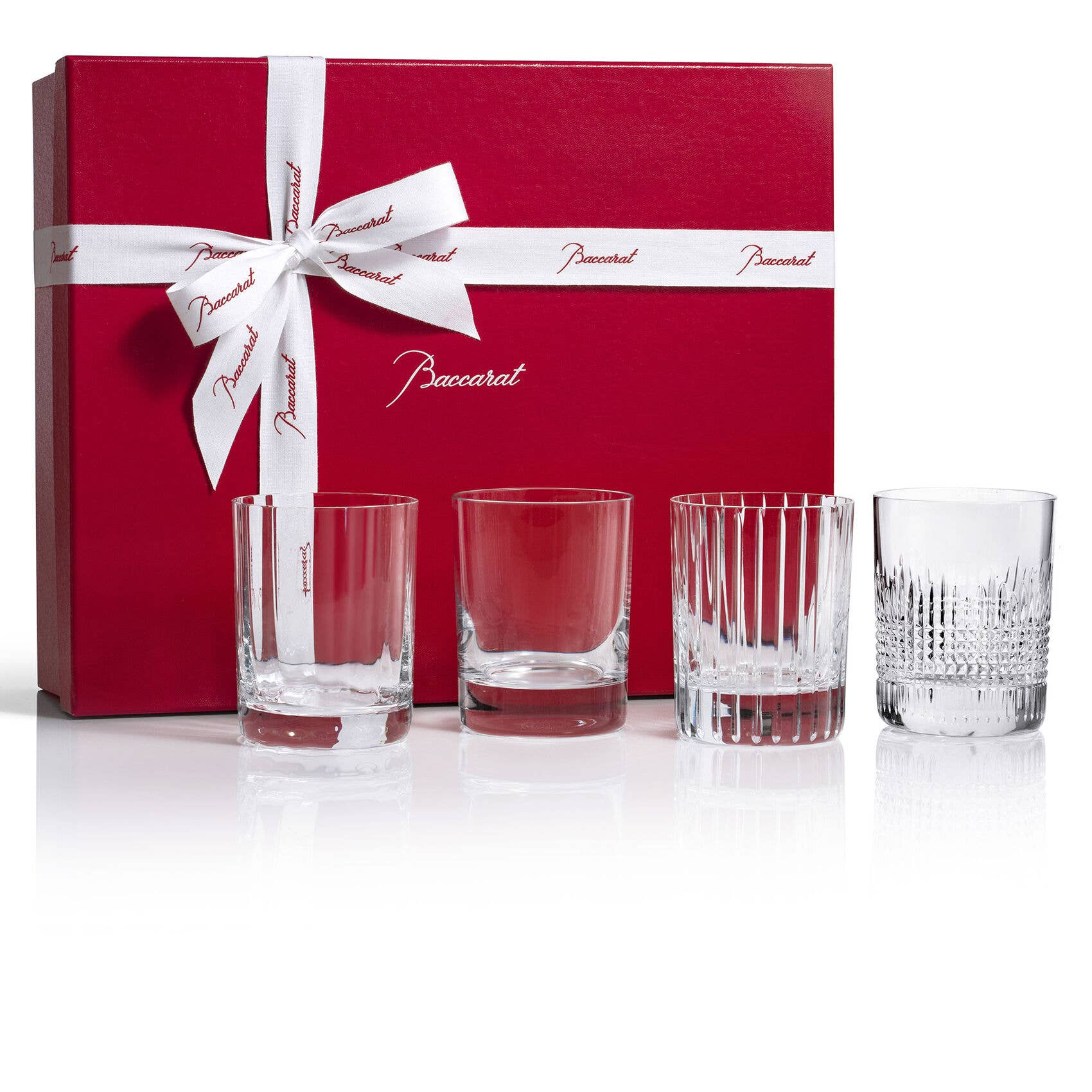 Baccarat Four Elements Tumbler representing air, water, fire and earth