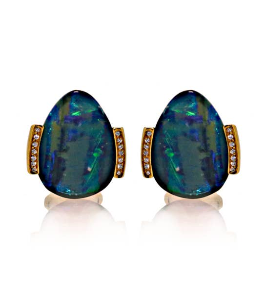 Boulder Opal and Diamond Cufflinks