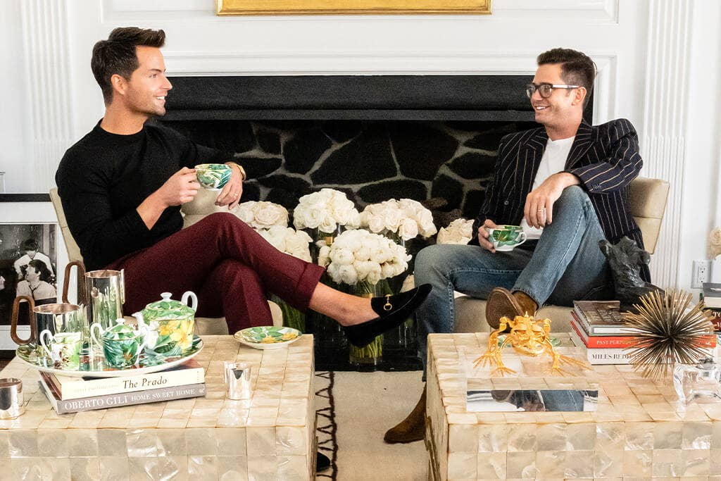 Josh Flagg and Bobby Boyd in their living room