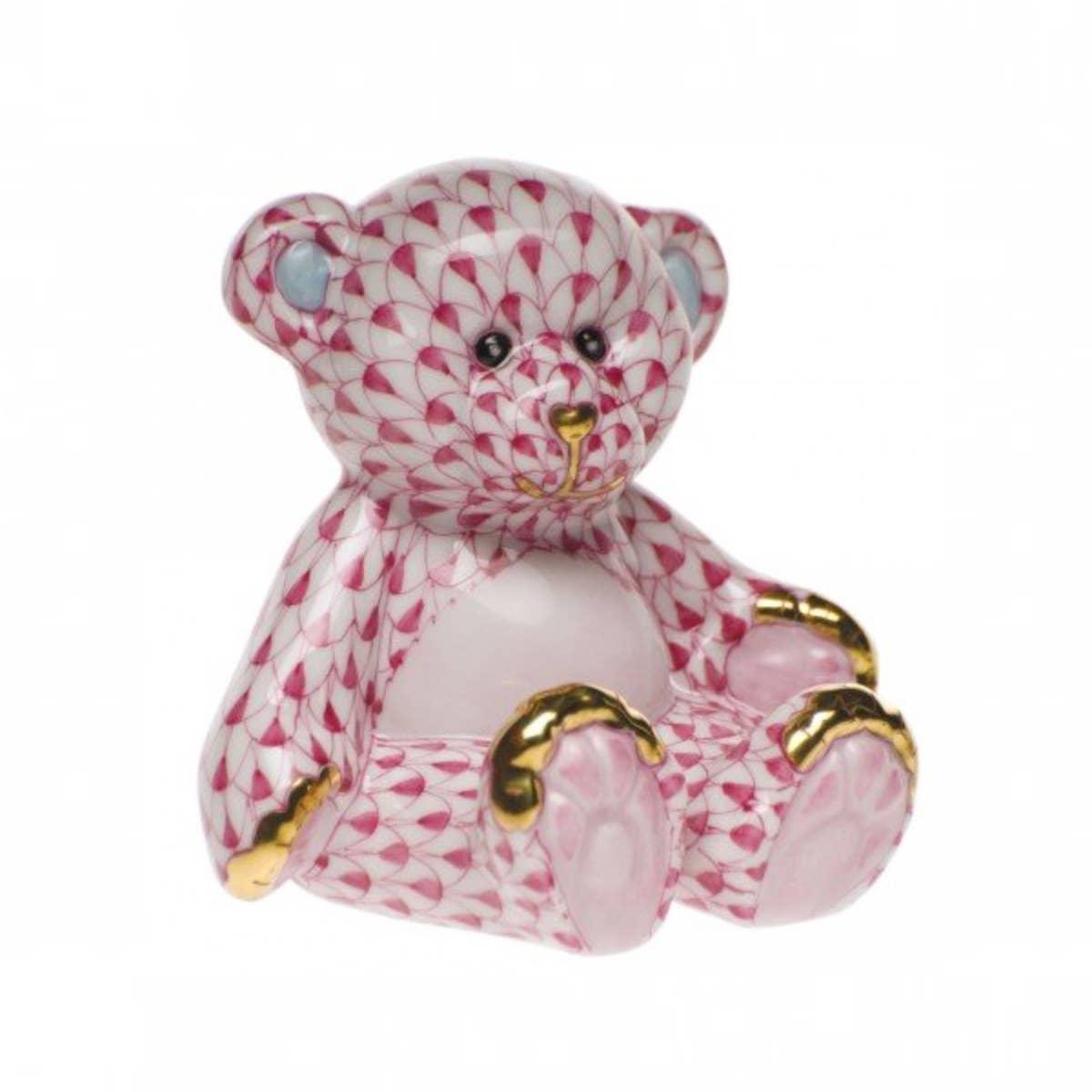 Fishnet Raspberry Small Teddy Bear