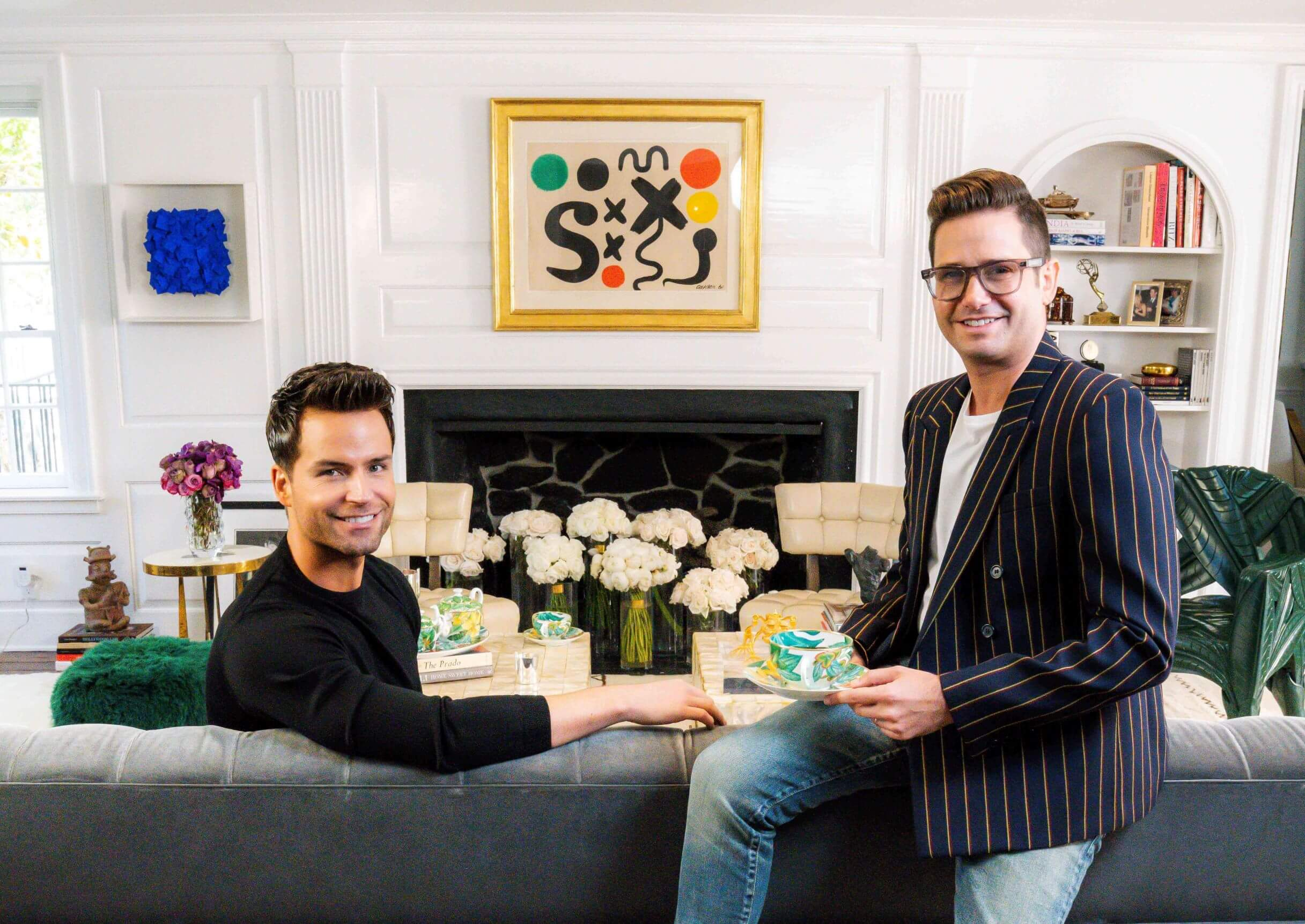 Josh Flagg and Bobby Boyd at home