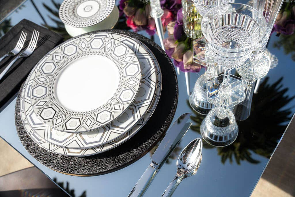 Hollywood Haviland tablescape on Bedford drive