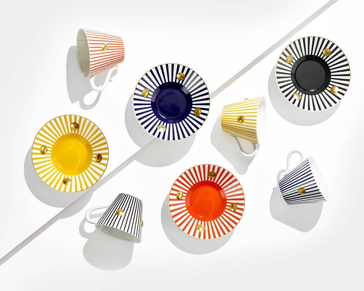 Shop our collection of Bernardaud dinnerware pieces, including our new Delphos cup & saucers.