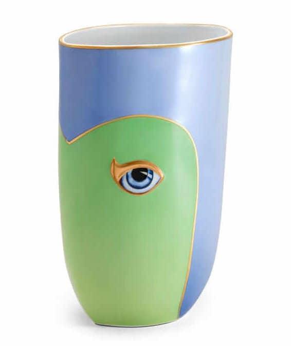L'Objet Lito Vase in Blue & Green