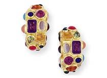<a href='http://www.gearys.com/multi-gem-hoop-earrings.html'><u><span style='font-family: quattrocento; font-size:12px'>SEAMAN SCHEPPS<br />Multi Gem Hoop Earrings</span></u></a>