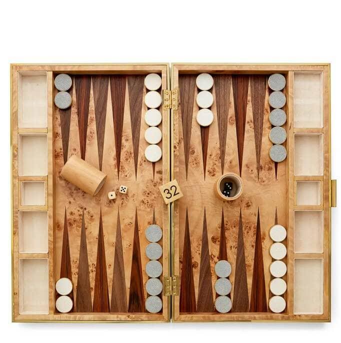 Aerin Backgammon Shagreen Set