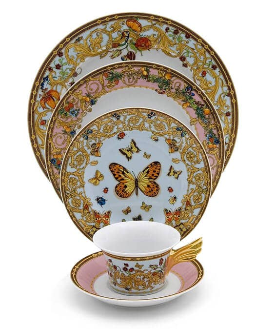 Rosenthal Versace Butterfly Garden Dinnerware display