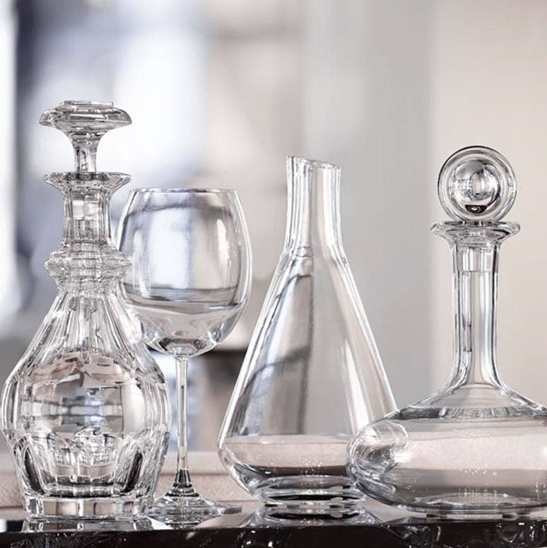 Baccarat decanters from Chateau and Oenology collections