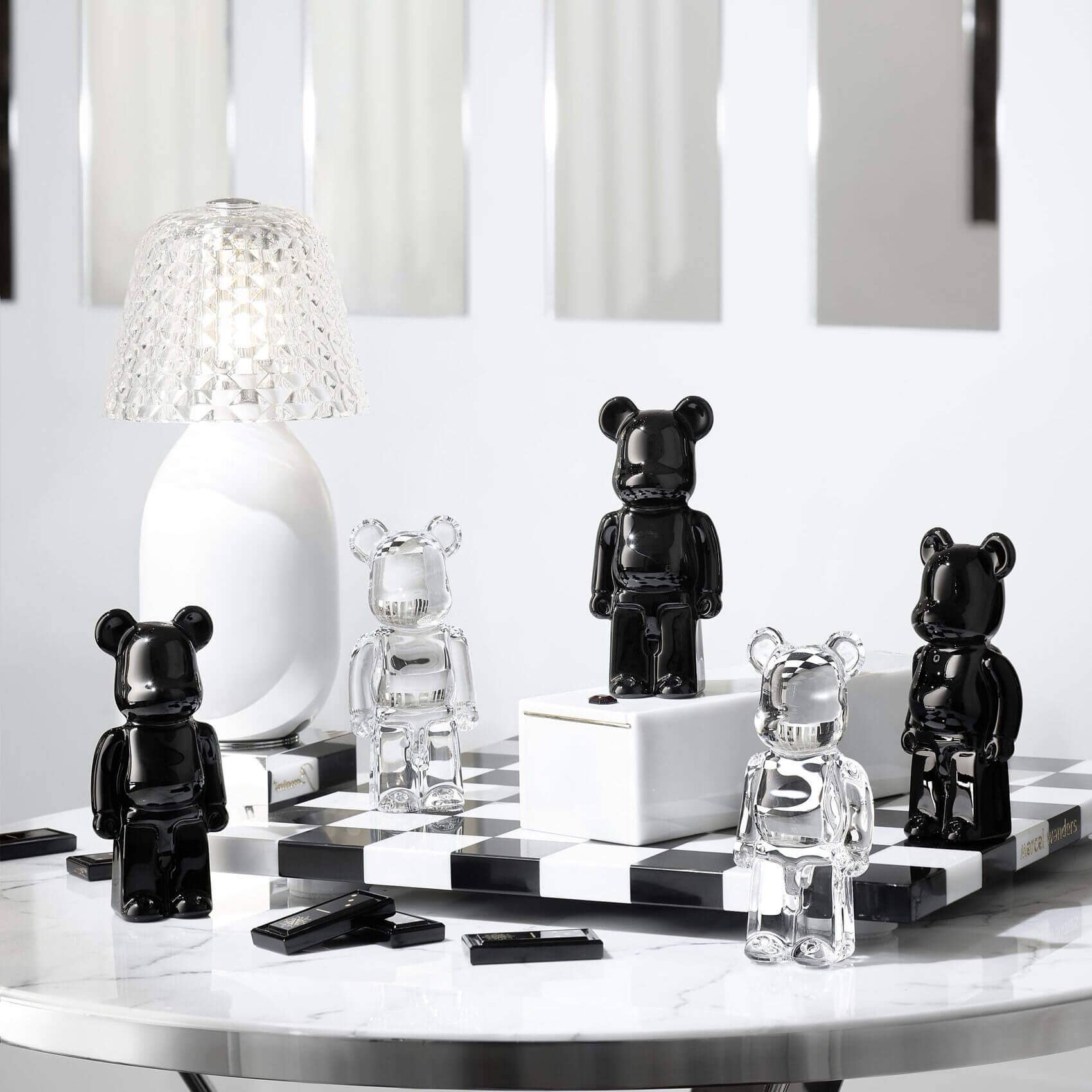 Baccarat Be@rbrick figurine in black and clear