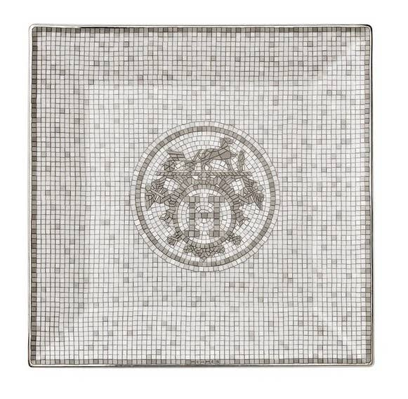 Art Déco mosaic inspired tray from Hermès Mosaique Platinum collection