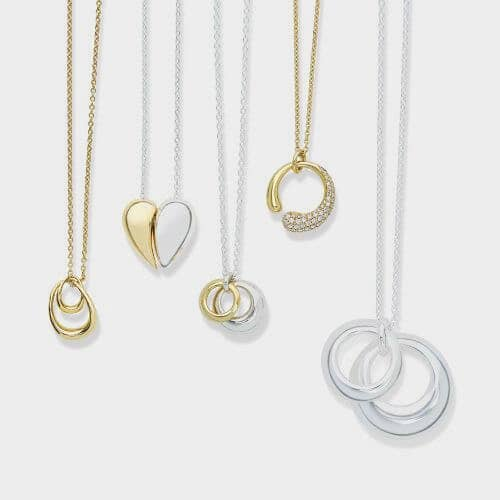 Georg Jensen Pendants in Gold and Silver