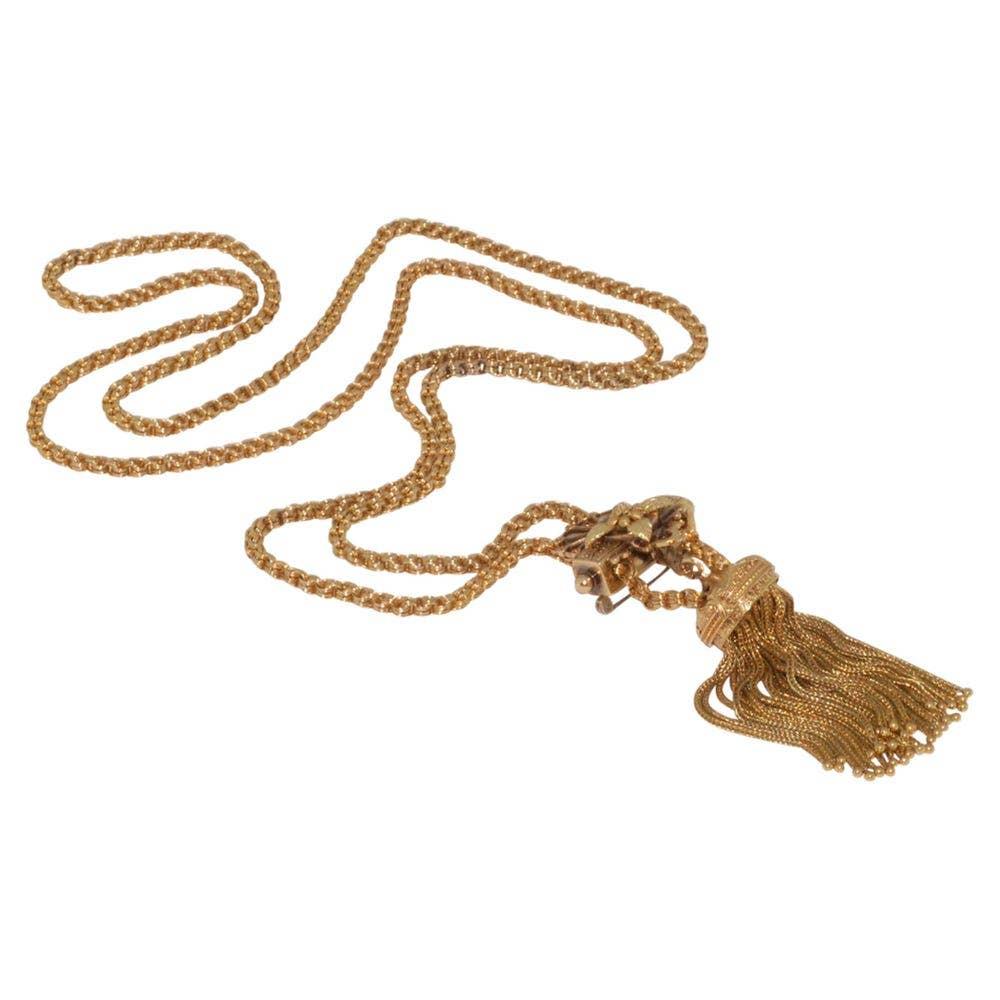 Fred Leighton Victorian Tassel Slide Necklace