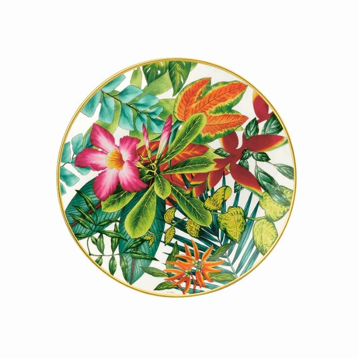 Floral themed plate from Hermès Passifolia collection