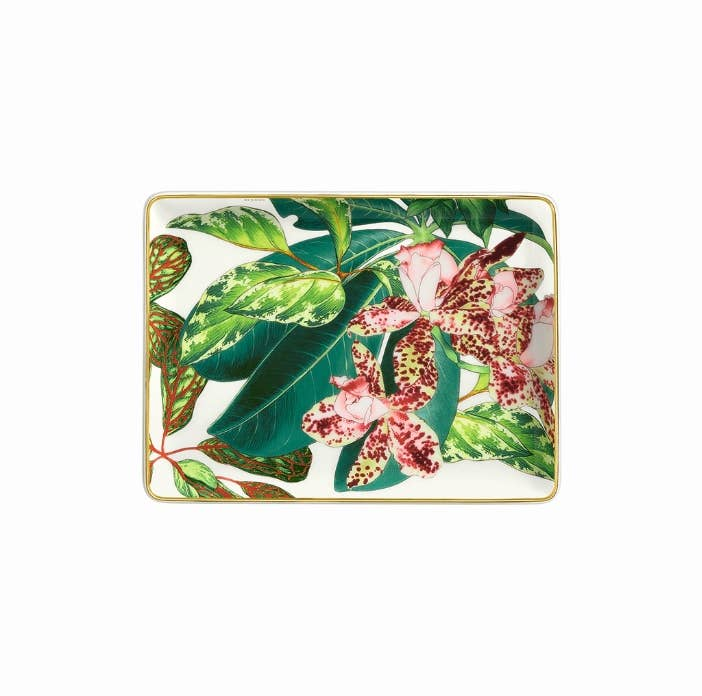 Floral themed valet tray from Hermès Passifolia collection