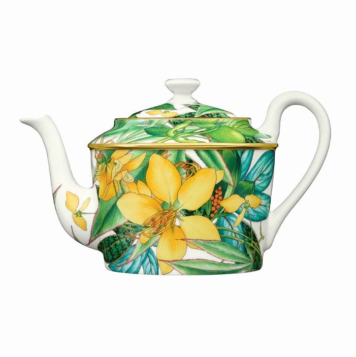 Floral themed teapot from Hermès Passifolia collection