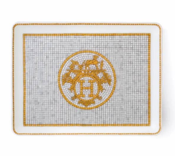 Art Déco mosaic inspired tray from Hermès Mosaique Gold collection